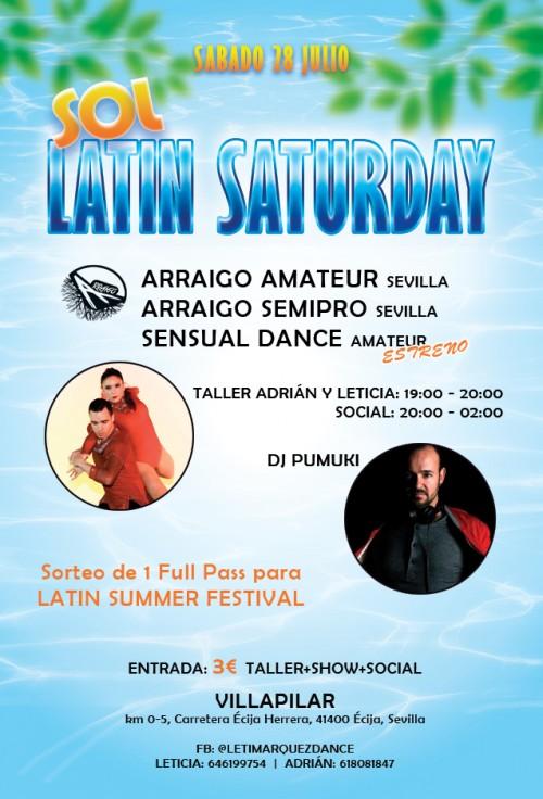 """Poster """"Sol Latin Saturday"""""""